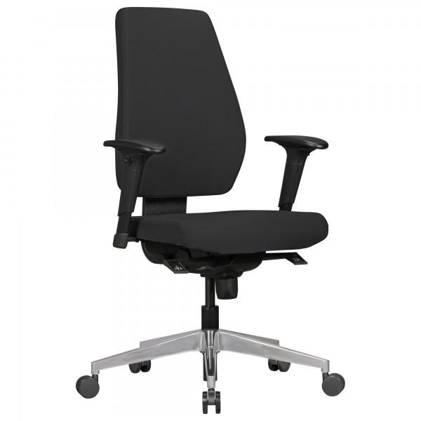 AMSTYLE Bürostuhl DARIUS mit Stoff-Bezug in Schwarz | Design Schreibtisch-Stuhl mit Synchromechanik