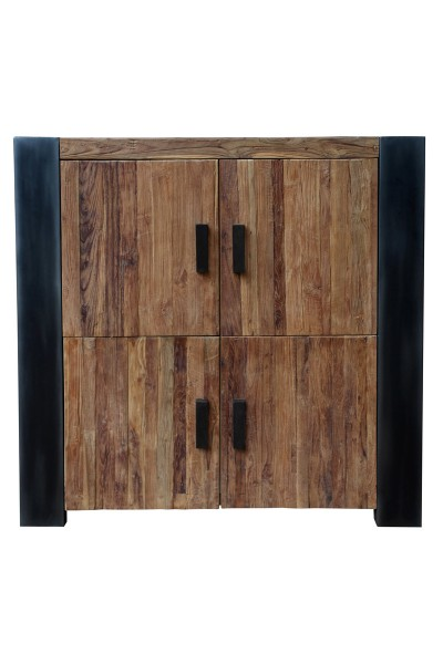 CROCO Highboard Massivholz teak