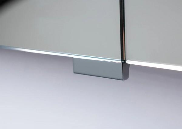 Design Spiegelschrank Griff verchromt, Zubehör für Doppelspiegeltür