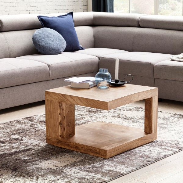 Couchtisch MUMBAI WL6.231 Massivholz Akazie Wohnzimmertisch 58 cm