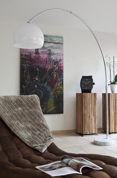 Moderne SalesFever Bogenlampe 230 cm - weiß
