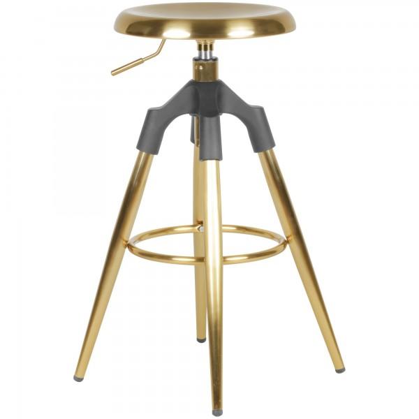 WOHNLING Design Barhocker Gold Industrial-Style
