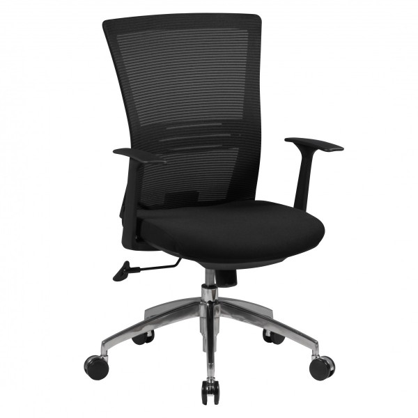 AMSTYLE Bürostuhl BASELINE Stoffbezug Schreibtischstuhl Armlehne schwarz Chefsessel 120kg Drehstuhl