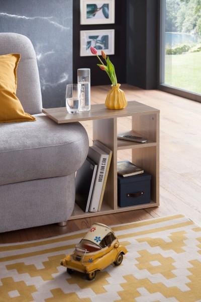WOHNLING Beistelltisch 50x50x30 cm Holz Sonoma Design Anstelltisch Sofa