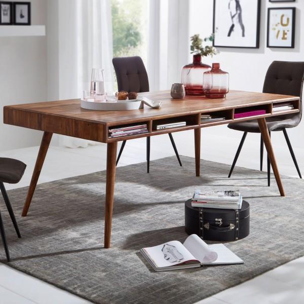 Wohnling Designer Esszimmertisch WL5.586 Sheesham 200x77x100 cm Massivholz Tisch