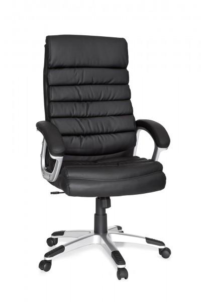 AMSTYLE Bürostuhl VALENCIA Schwarz ergonomisch mit Kopfstütze
