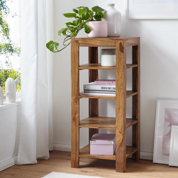 WOHNLING Standregal Massiv-Holz Sheesham 105 cm