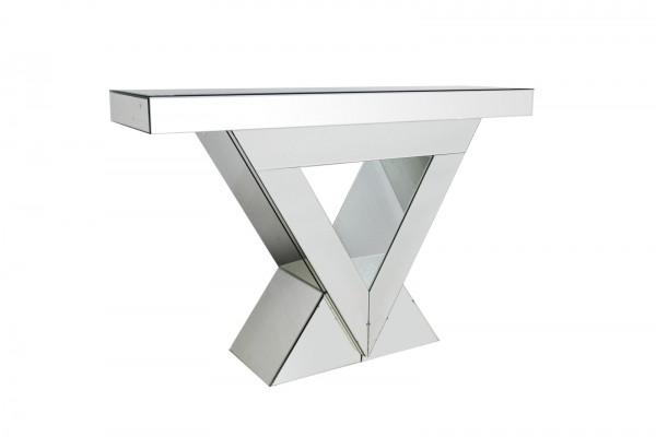 SalesFever Konsolentisch - Theke 120 cm aus MDF mit Spiegelglas