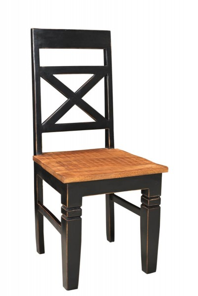 Sit Möbel CORSICA Esszimmerstuhl 2er-Set Mangoholz schwarz / braun