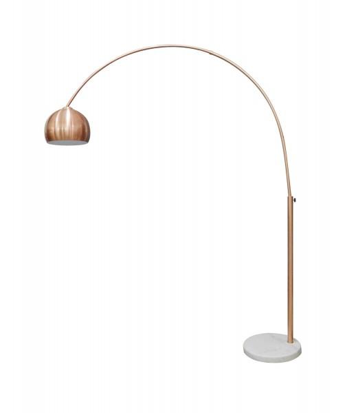 SalesFever Bogenlampe Kupfer | 1-flammig | höhenverstellbar