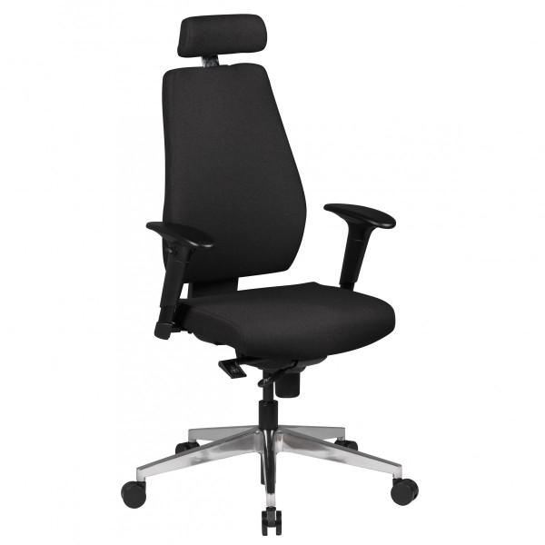 AMSTYLE Bürostuhl SPM1.279 Schreibtischstuhl Stoff Schwarz Chefsessel Modern SPM1.279