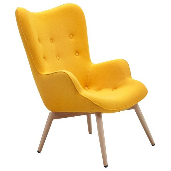 SalesFever Sessel gelb Webstoff