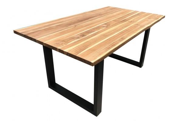 Esstisch 200x100 cm aus Teakholz Baumkante