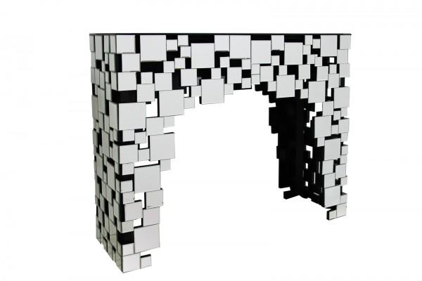 SalesFever Konsolentisch - Theke B 111 cm aus MDF mit Spiegelglas | Mosaik-Design