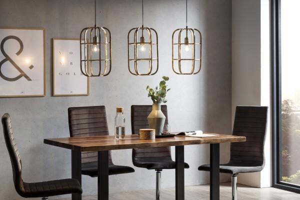Moderne Hängeleuchte 115 x 150 cm silbergrau Industrie-Look