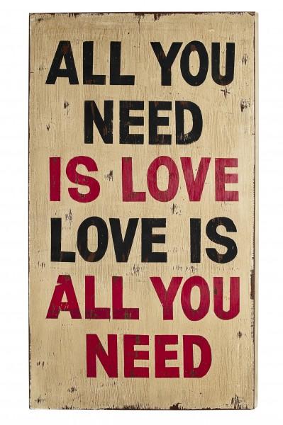 Wall-Art Love 50x4x90 cm