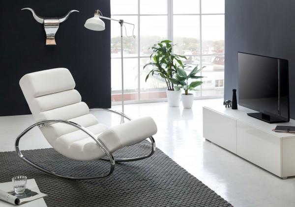 Designer Relaxliege WL1.857 Sessel Fernsehsessel Farbe weiß
