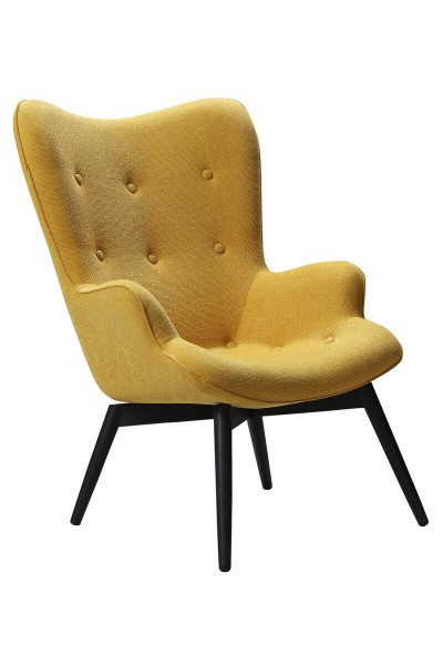 Sessel Gelb Strukturstoff