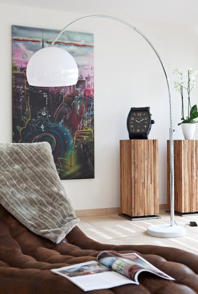Moderne Bogenlampe 208 cm mit Dimmfunktion - weiß
