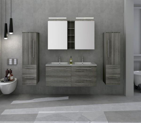 Badezimmer Set 120 cm Waschtisch, 4 tlg.