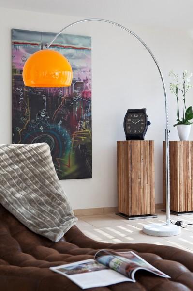 Moderne Bogenlampe 208 cm mit Dimmfunktion - orange