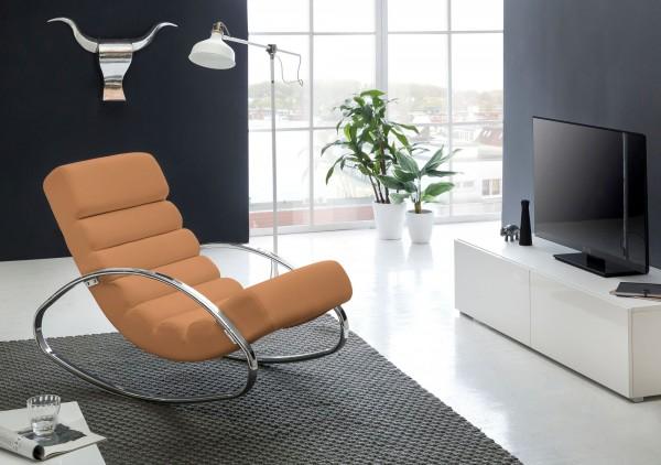 WOHNLING Relaxliege Sessel Fernsehsessel Farbe braun Relaxsessel Design Schaukelstuhl Wippstuhl
