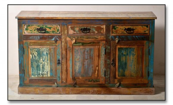 "Sideboard design ""Riverboat"" bunt lackiert"