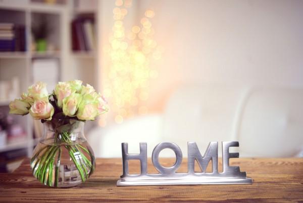 WOHNLING Home Deko WL1.930 Schriftzug Design Aluminium