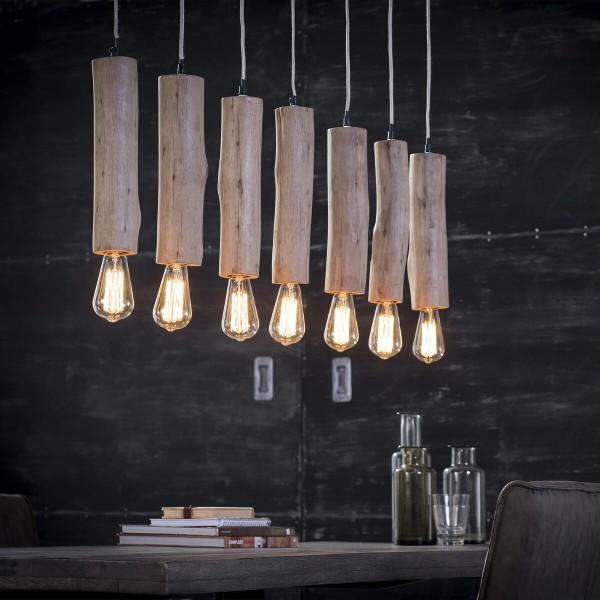 SalesFever Design Hängeleuchte 125 x 150 cm Eukalyptus Holz A+