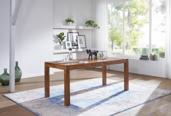 WOHNLING Esstisch MUMBAI Massivholz Sheesham 120 cm Esszimmer-Tisch Holztisch Design Küchentisch