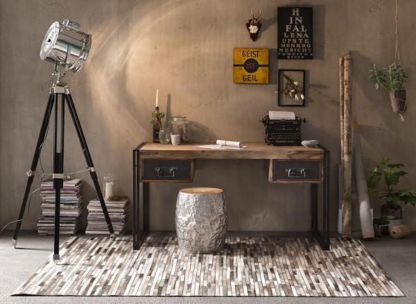 Sit Möbel PANAMA Schreibtisch Akazie | L 150 cm | natur / antikschwarz | 09207-01