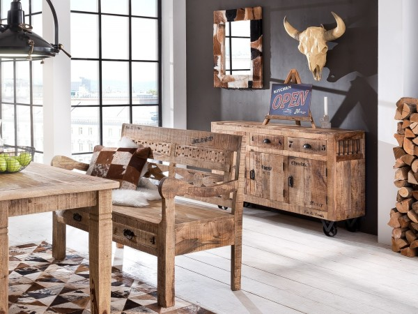 SIT Sideboard 140 cm Rustic massiv Mango Holz
