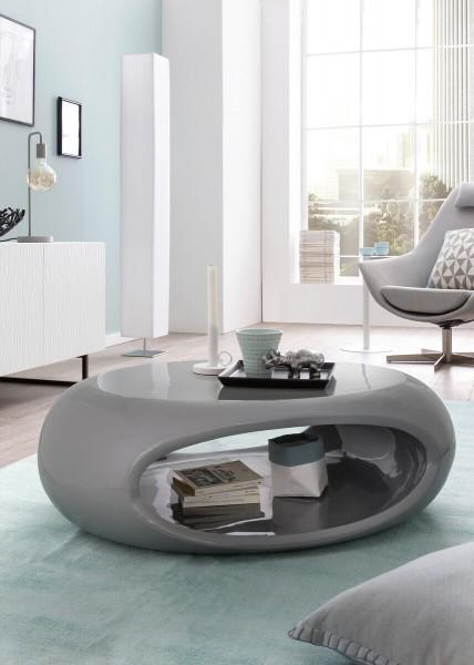 Design Couchtisch 100 cm Fiberglas grau