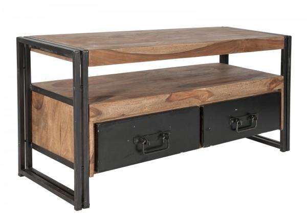 SIT Möbel Lowboard 112 cm Panama | 2 Schubladen, 1 offenes Fach | Akazie natur | Altmetall