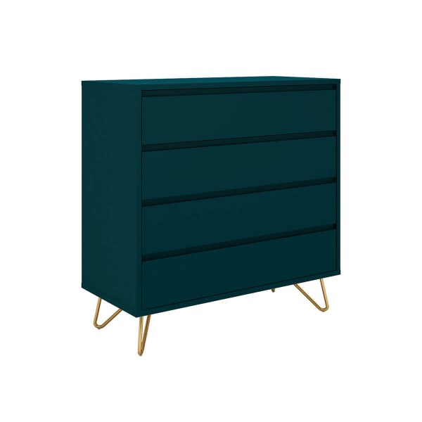 SalesFever Kommode 90 cm breit mit 4 Schubladen, blau 393604