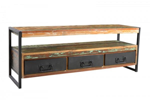 Sit Möbel BALI Lowboard Altholz | 155 cm | bunt / schwarz | 03521-98