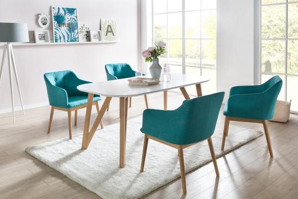 SalesFever Esstisch 180 x 90 cm skandinavisches Design