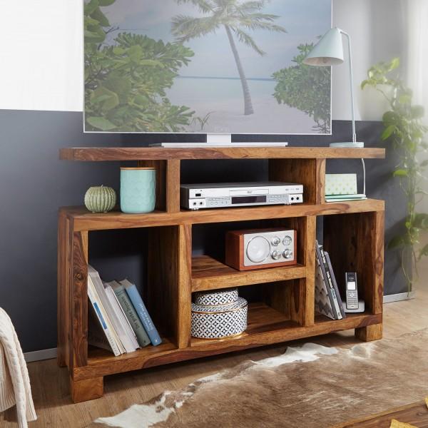 WOHNLING Sideboard MUMBAI Sheesham Massivholz 115 x 76 x 40 cm Landhaus-Stil | Fernseh-Kommode