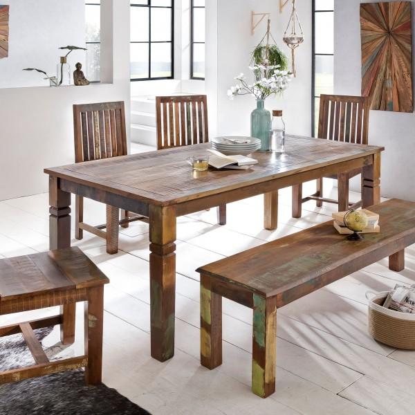 WOHNLING Esszimmertisch Kalkutta 120 x 70 x 76 cm | Massivholz Esstisch für 4-6 Personen