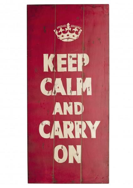 Tafel Keep Calm 40x4x90 cm