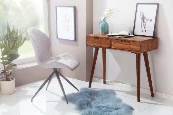 WOHNLING Konsolentisch WL5.577 90x76x36cm Sheesham Massivholz mit Schubladen | Design Holz Anrichte