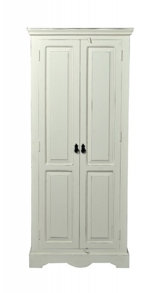 SIT Möbel Schrank Toledo 2 Türen, antikweiß B 80 x H 180 cm