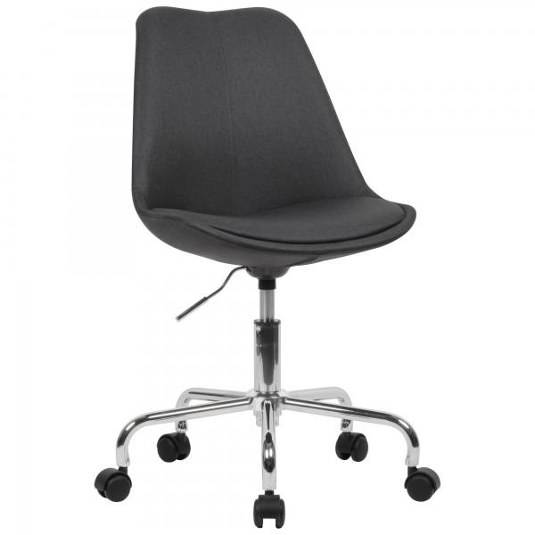 AMSTYLE Schreibtischstuhl Schwarz Stoff mit Lehne