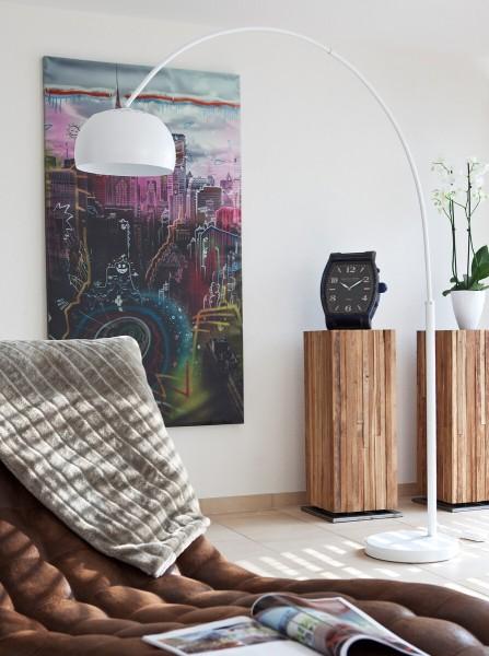 Moderne Bogenlampe 195 cm mit Dimmfunktion - weiß