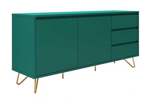 SalesFever Sideboard 160 cm in grün mit 2 Türen und 3 Schubladen
