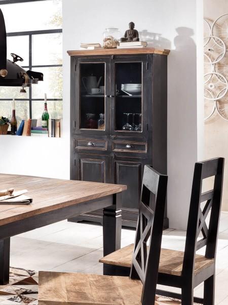 SIT Möbel Vitrine Corsica aus Mangoholz   4 Türen, 2 Schubladen