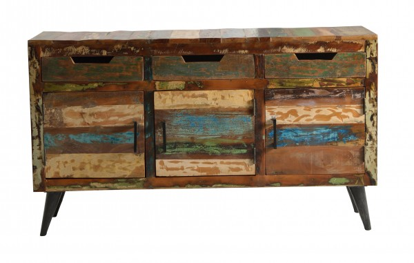 Sideboard Miami Altholz, bunt