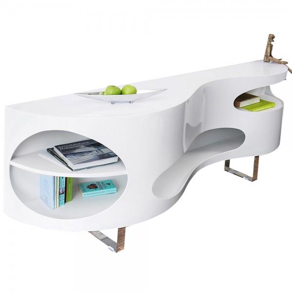 Design Sideboard 200 cm weiß