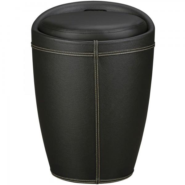 Prestige Möbel Wäschebehälter Wäschekorb Schwarz Hocker mit Funktion